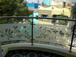 Spiral Balcony Glass Railing