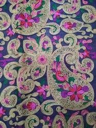 Chain Stitch Embroidered Georgette Fabric
