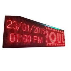 Aluminum Running LED Display Board, Shape: Rectangle