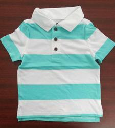 Hosiery And Lycra Cotton Polo Kids Collar T-Shirt