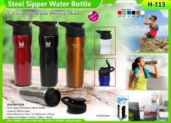 Steel Sipper Water Bottle H-113