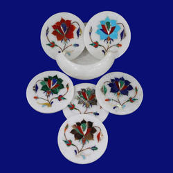 Marble Inlay Decorative Coasters