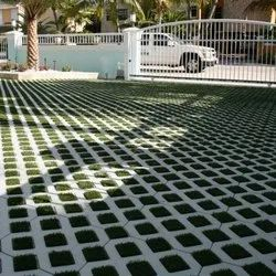 Grey Square Grass Concrete Paver Block