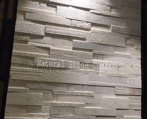 Stone White Designer Wall Cladding Tiles Thickness 15 20
