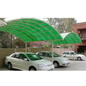 Green Car Parking Shed
