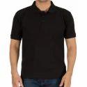 Mens Polo Black T Shirt