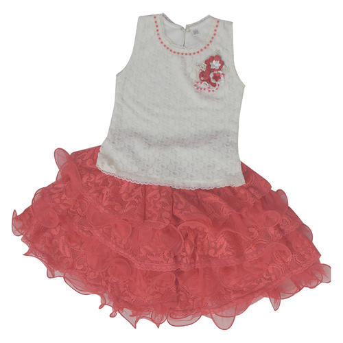 036034a64146 White And Peach Color Round Neck Stylish Baby Girl Skirt Top, Rs 525 ...