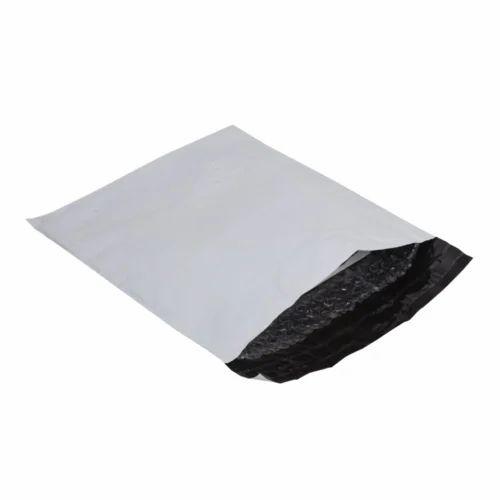 White POD Plastic Tamper Proof Courier Bags f658daf84f63e