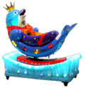 Rotating Dolphin Kiddie Amusement Ride Game