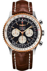 Brown Round Breitling Navitimer Watch