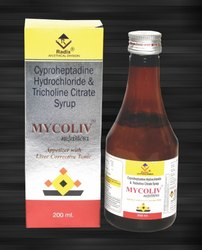 Tricholine Citrate 275 mg,Cyprohepatidine 2 mg & Sorbitol 70%-2 gm per 5 ml Tonic