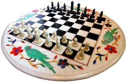 Rounded Marble Chess Set