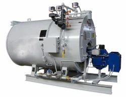 Oil Fired 100 kg/hr 3 Pass Wet Back Boiler IBR Approved