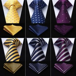 Tie With Pocket Square Set