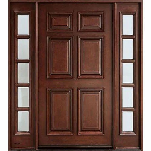 Modern Wooden Door, Solid Timber Door, ठोस लकड़ी का दरवाजा, सॉलिड वुड डोर -  Rich Wood Creations, Chennai | ID: 20264716697