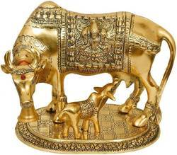 Brass Metal Cow And Calf