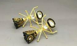 Designer Stone Meena Painted Earrings