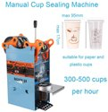 Small Manual Cup Sealing Machine 300-500 Cups/Hour For 95 mm diameter