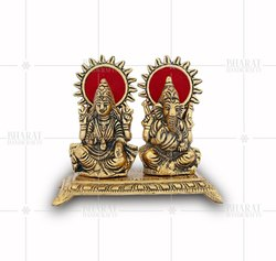 Gold Plated Laxmi Ganesh Idol