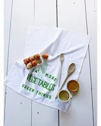 Printed Kitchen Organic Cotton Tea Towel