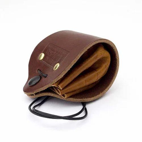 Leather handmade coin purse