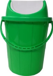 Green Plastic Swing Garbage Bin