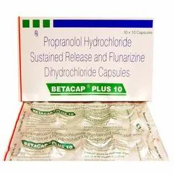 Propranolol Hydrochloride Sustained Release and Flunarizine Dihydrochloride Capsules