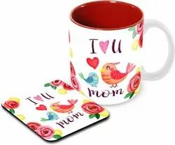 Customized Diwali Gift Coffee Mug, Tea Coaster and Mobile Pop Stand