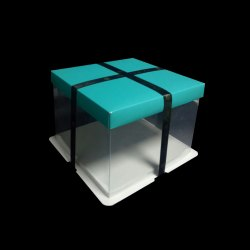 10 Inch Turquoise Crystal Boxes