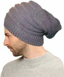 Grey Woolen Beanie Cap