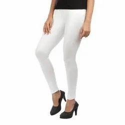 White Plain Stretchable Leggings, Size: XXL and XXXL