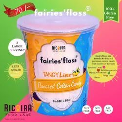 fairies'floss 4 Months Cotton Candy Tangy Lime Flavored, Packaging Type: Plastic Glass, Packaging Size: 500 G