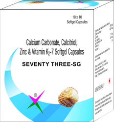 Calcitriol Calcium Carbonate Zinc and Vitamin K2-7 Softgel Capsules