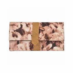 Azzra Brown Wallet Clutch
