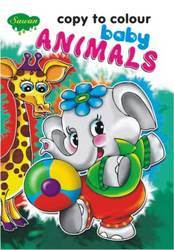 Copy To Colour Baby Animals
