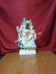 Marble Idol Radha Krishna Statue