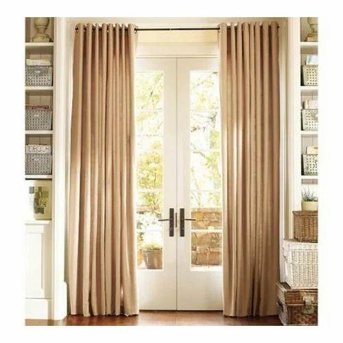 Beau Brown Plain Door Curtains