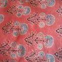 "44-45"" Ajrakh Hand Block Printed Fabric, For Suit Kurtis, Gsm: 50-100"