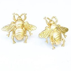 Insect 925 Sterling Silver Micron Gold Plated Customised Cufflinks For Mens
