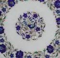 Pietra Dura Marble Inlay Coffee Table Top