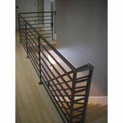 Black Bar Staircase Railing