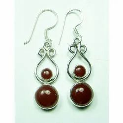 Cornolian 925 Sterling Silver Finished Earrings
