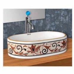 Oval Printed Wash Basin