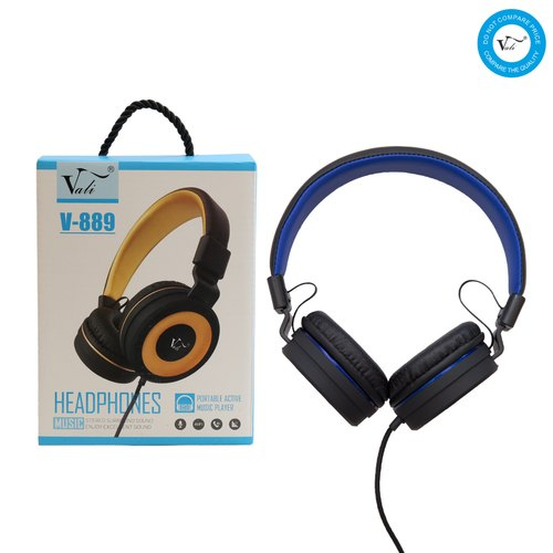 Vali Adjustable Headphones With Mic V889 With Box Packing HE2719/V889