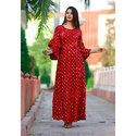 Ladies Red Full Length Long Kurti