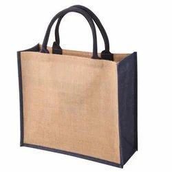 Brown & Black Plain Jute Bags