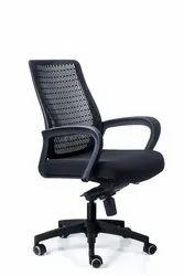 Black Mesh Nilkamal Office Chair