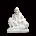 White Marble Sai Baba Seated Statue