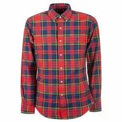 Cotton Checks Mens Full Sleeves Casual Shirt, Machine wash