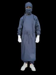 Surgeon Gown Grey Cotton Heavy Duty Fabric